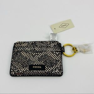 Fossil Metallic Haircalf Multi-Card Holder